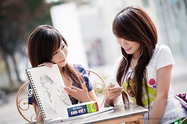 Album hình chân dung model Diễm Thu - Quỳnh Thơ