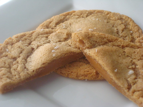 Salted Cashew Butter Cookies with Caramel
