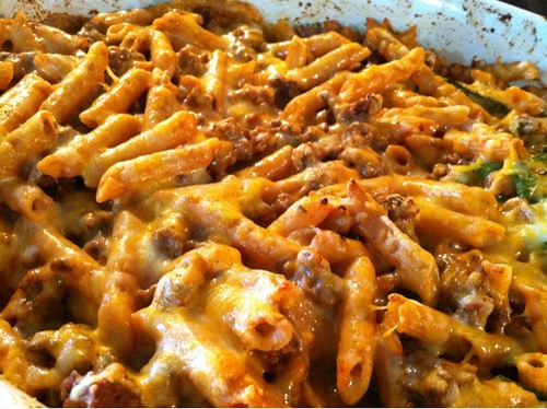 Dinner is served: baked ziti