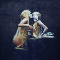 the waters (brookeshaden) Tags: girls water print mask auction explore wig clone lupus frontpage seminude waternymphs brookeshaden
