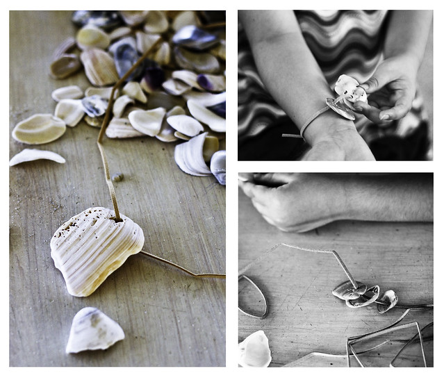 Things To Make With Seashells http://blog.landofnod.com/honest-to-nod/2011/07/things-to-make-seashell-jewelry-and-sand-pictures.html