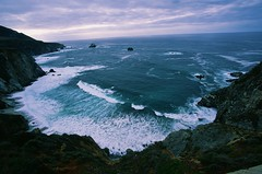 Precarious (Martin Cathrae) Tags: california usa film coast cove velvia highway1 pacificocean coastline velvia50
