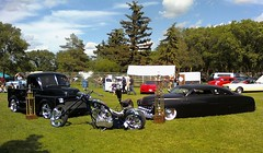 Black Is Black (blondygirl) Tags: auto music black car chopper edmonton hotrod custom streetrod  esra winnerscircle bordenpark michaelgodard showshine showwinners edmontonstreetrod summercruise26 michaelgodardchopper