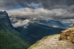 Morning on the Highline Trail (Kel-E) Tags: vacation mountains clouds centennial montana outdoor hiking trails glaciernationalpark