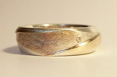 Two colour band ring