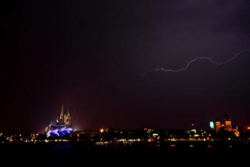 Gewitter über Köln