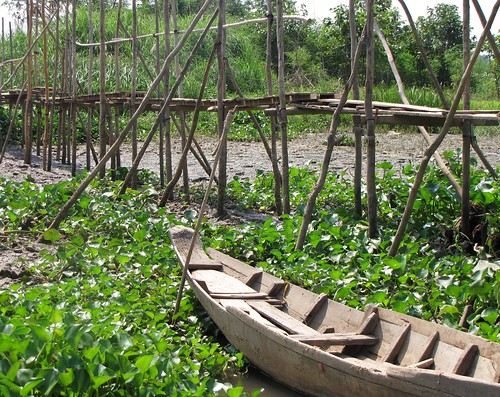 Cham Muslim Minority Village - Foot Bridge and Old Boat