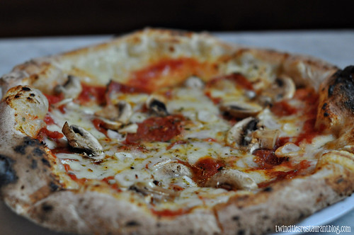 Salame E Funghi Pizza at Punch Pizza~ St Paul, MN