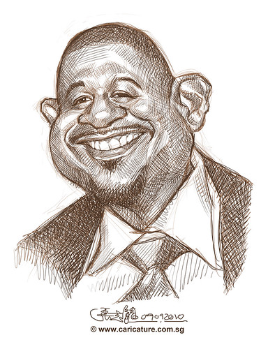 School Assignment 5 - sketch 2 of Forest Whitaker