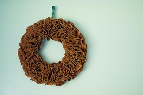 ruffly felt wreath