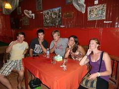 Met MJ, Oli en Danny in Phnom Penh