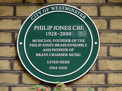 Photo of Philip Jones green plaque