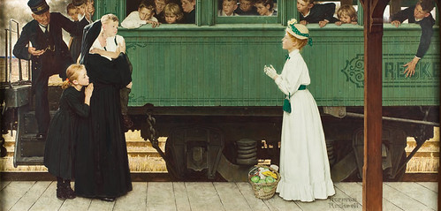 Good Boy (Little Orphan at the Train) by Norman Rockwell