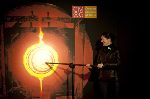 Pretending to Mold Glass at Corningware Glass Museum