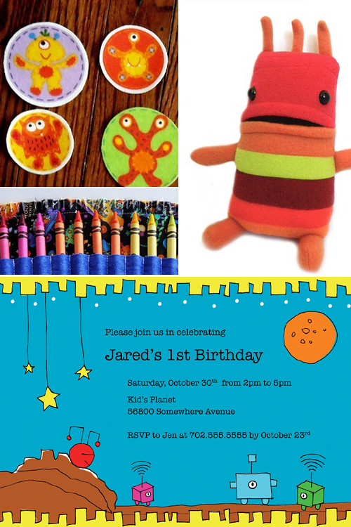 Sample_PlanetMars DIY Invitation, planet, Mars, space, alien, blue, yellow, patch, colorful, whimsical, invitation, DIY, printables, robot, kids, party, holiday, halloween, pbs kids, kids, robot, boo, ghost, monster