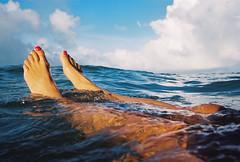 Relaxing in the sea (lomokev) Tags: sea sky feet sport swimming swim foot nikon brighton kodak kodakportra400vc swimmers portra swiming nailvarnish nikonos kodakportra400 kodakportra deletetag nikonosv nikonos5 nikonosfive roll:name=100913nikonosvvc file:name=100913nikonosvvc11 image:selection=tombing