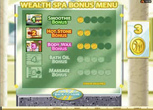 free Wealth Spa gamble bonus game