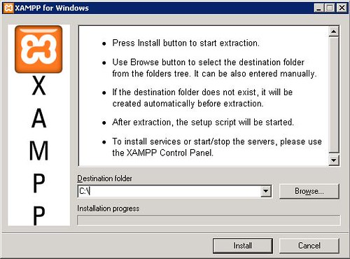 XAMPP - specifying installation folder