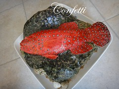 Coral grouper cake (confetti_jeddah) Tags: birthday fish cake coral carved 3d fishcake sculpted grouper fondant coralgrouper cakesformen