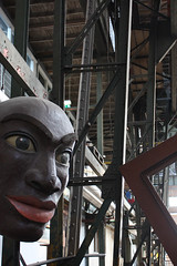 incoming message from the giant head.. (Romano Lindhout) Tags: art amsterdam head kunst ndsm hoofd eos450d c2010 romanolindhout