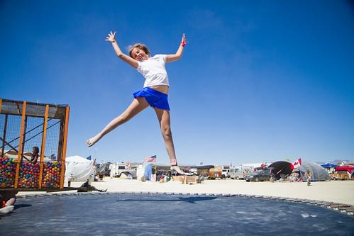 Jumpshot of Shimmer at Kidsville at Burning Man 2010