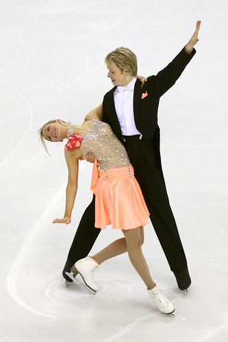 Christina Chitwood and Mark Hanretty performing the Golden Waltz at the 2010 World Figure Skating Championships in Turin, Italy. (Photo by Clive Rose - Getty Images)