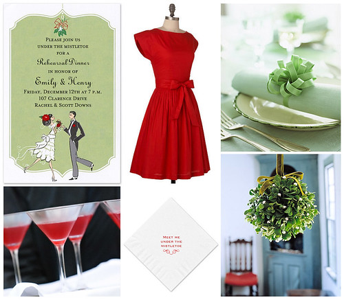 Meet Me Under The Mistletoe Rehearsal Dinner