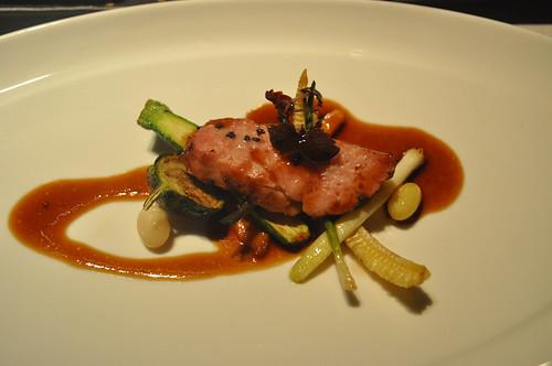 Molleja de Tenera: asada, sazonada con la típica mezcla Kosher del Schwartz's de Montreal