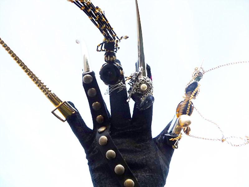 Swallow Glitter DIY glove 1