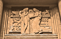 Attractions of Nice (wamcclung) Tags: sculpture france tourism nice cotedazur relief artdeco pediment frenchriviera