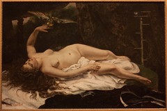 Woman with a Parrot (O.Connell.) Tags: nyc newyorkcity themet metropolitanmuseumofart gustavecourbet canon450d womanwithaparrot havemeyercollection