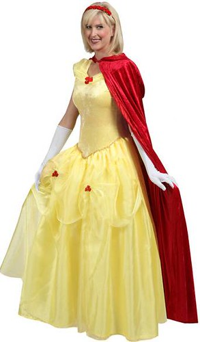 Deluxe Adult Beauty Yellow Ballgown