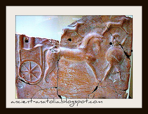 Phrygian tile from palace of Midas at Gordion Museum, Ankara by voyageAnatolia.blogspot.com