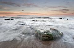 Marsden's Bay | Sunset (Reed Ingram Weir) Tags: pink sky motion green stone clouds bay sandy wave boring lee filters 35 wispy 18mm fail ziess marsdens miniwaterfall nikond700 reedingramweir riwp