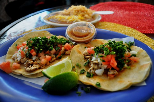 Chicken Tacos at Alegria Tacos