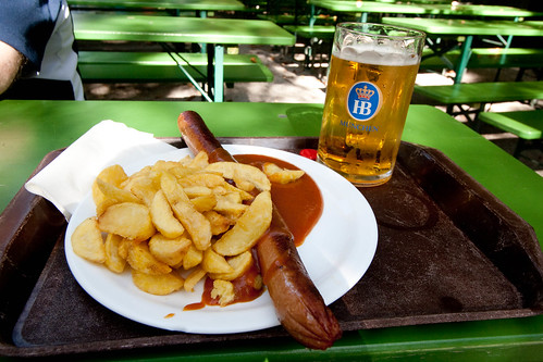 Currywurst and bier