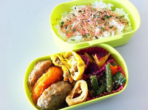 今日のお弁当 No.25 – 鮭青菜