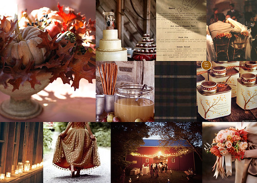 autumn wedding inspiration with red and brown