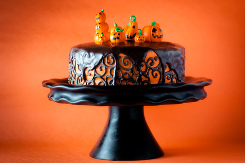 Halloween Chocolate Orange Layer Cake