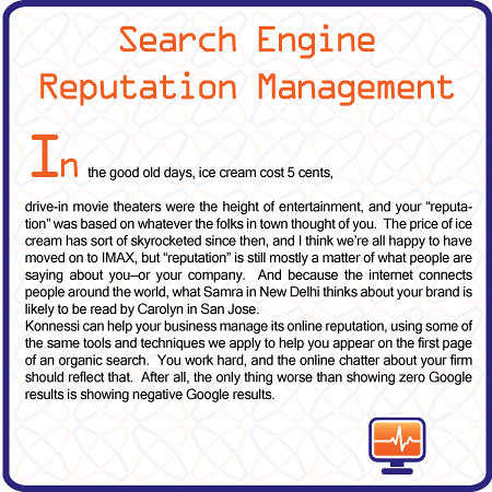 Search Engine Reputation Management by Francis Polson