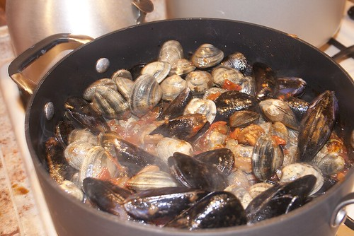 Bivalves Cooking