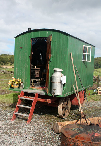 Vintage hut on wheels