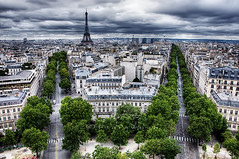 Streets of Paris (Faddoush) Tags: street paris france nikon europe tour eiffel hdr
