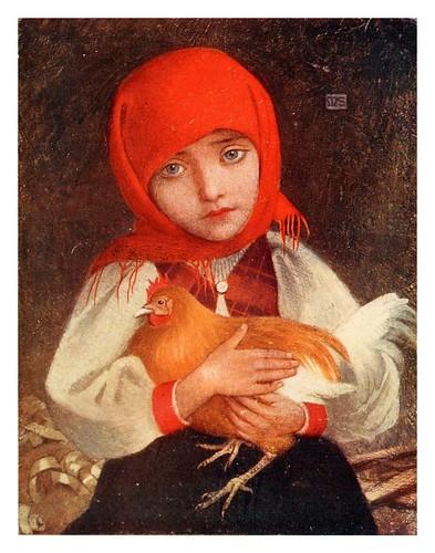 018-Una niña campesina en el distrito de Tátra al este de Hungria-Hungary-1911-Adrian y Marianne Stokes