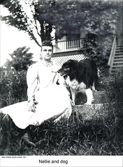 """Nellie"" of Dublin New Hampshire (Keene and Cheshire County (NH) Historical Photos) Tags: woman dog dublinnh dublinnewhampshire maryerobbe"