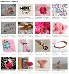 Breast Cancer Awareness Treasury on Etsy (OMFG It's Mimii) Tags: pink hope gold treasury bracelet etsy awareness breastcancer thinkpink iloveboobies