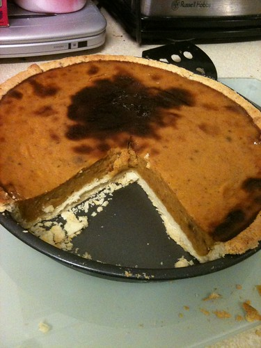 Pumpkin Pie - burnt!! but still delicious!