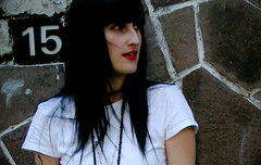 Cherry Lips ( Electric Barbarella) Tags: red portrait me girl rojo retrato yo lips labios