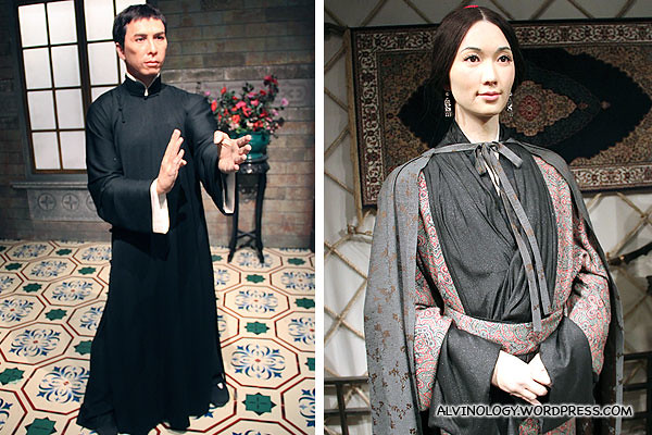 Donnie Yen and Lin Chi-Ling in her costume in the movie, Red Cliff