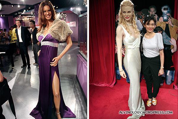 The two leggy Australian celebrities, Elle Macpherson and Nicole Kidman